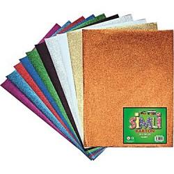 Carton decorativ A4, glitter, 10 culori asortate