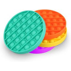 Jucarie Senzoriala Antistres Pop It Now Push Bubble Round, portocaliu