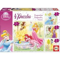 "Joc puzzle progresiv 12-16-20-25 piese ""Disney Princess"" Educa"