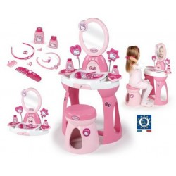 Set coafor cu oglinda Hello Kitty Smoby Masuta cu oglinda Hello Kitty Smoby