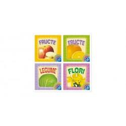 Set 4 pliante cartonate Sa invatam legumele, fructele si florile