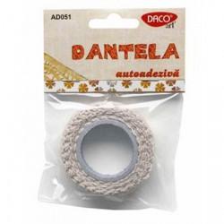 Dantela bumbac autoadeziva crem Daco Art AD051/1