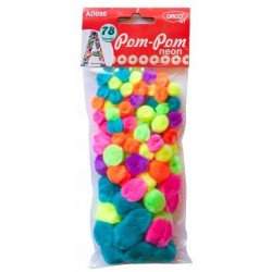 Pom-Pom Neon 78 buc AD090 Daco Art
