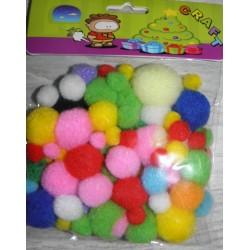 Pom-Pom Multicolor diverse marimi