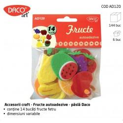 """""""Fructe"""" - Accesorii Craft pasla autoadeziva Daco Art AD120"""