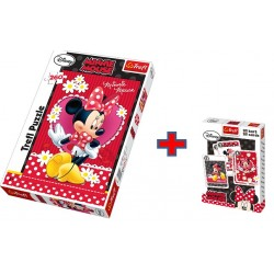 Joc Puzzle 260 piese Minnie Mouse + Carti Pacalici Cadou Trefl