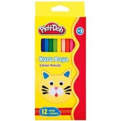 Set 12 creioane colorate lungi Play-Doh
