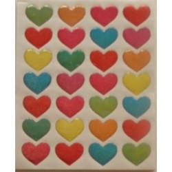 Abtibild inimioare colorate