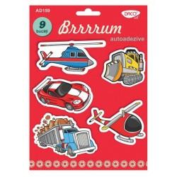 Brrrrum - vehicule din spuma autoadezive AD159 Daco Art