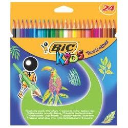 Creioane colorate Tropicolors 24 bucati Bic Kids