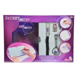 Jurnalul Secret cu stilou magic si breloc cu lumina uv Simba Toys