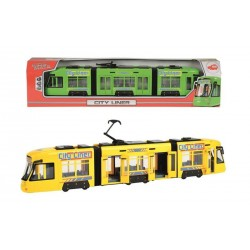 Tramvai galben City Liner Dickie Toys