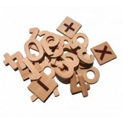 Set 25 cifre didactic - Accesorii craft lemn