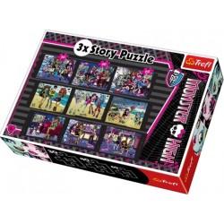 Set 9 puzzle-uri cu personajele Monster High de la Trefl