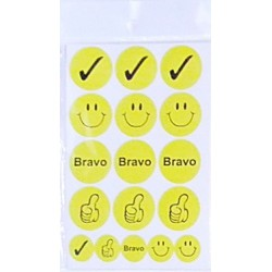 Set 10 folii cu Stickere  Bravo