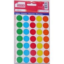 Bulinute adezive 19mm, 5 culori, 175 bucati