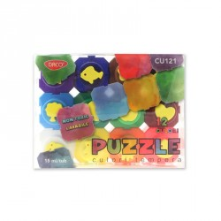 Culori tempera 12 culori Puzzle DACO
