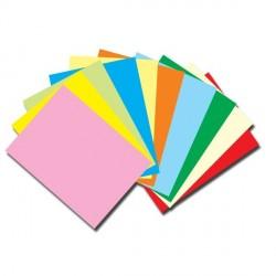 Carton 160g  A4 10 culori, set de 100 coli