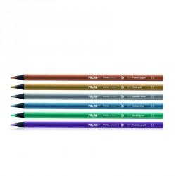 Creion color 6 Metalizat MILAN