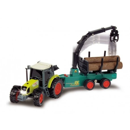 Dickie Toys Ferma Worker Tractor cu remorca 35 cm