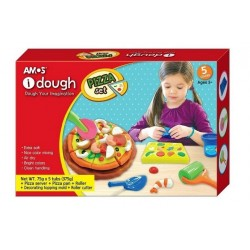 Set Plastilina Pizza AMOS Dough 5/set 75g + 9 accesorii