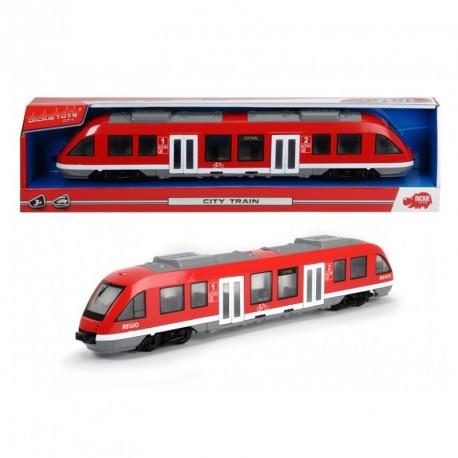 Tramvai Dickie Toys City Train - rosu