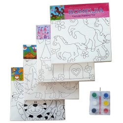 Panza pentru pictura Dinozauri - canvas + culori