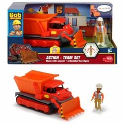 Action Team Vehicul Muck + figurina Leo, Bob Constructorul