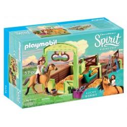 Playmobil Spirit, Spatiu ingrijire cai Lucky & Spirit, PM9478