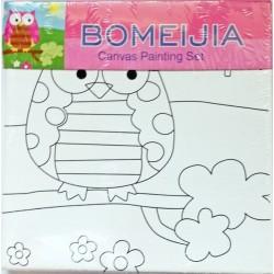Panza pentru pictura Bufnita - canvas + culori