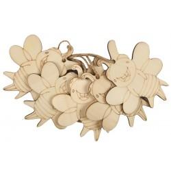 Figurine lemn albinuta, 5/set