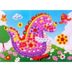 Joc creativ mozaic dinozaur