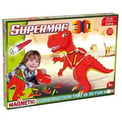 Set Constructie Magnetic T-Rex,  Supermag 3D