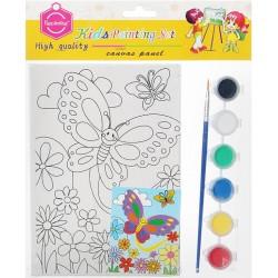 Panza imprimata pentru pictura fluturas + culori