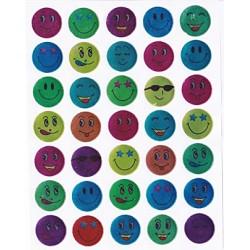 Abtibild emoticoane multicolore, 10 folii/set