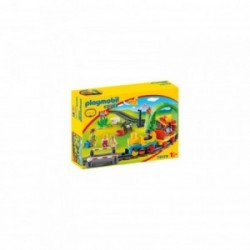 Playmobil 1.2.3 Tren cu statie PM70179