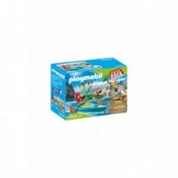 Set Playmobil Aventura cu caiac PM70035