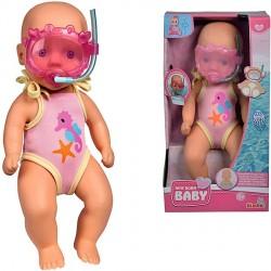 Papusa New Born Baby Bathdoll 30 Cm