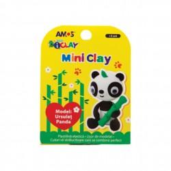 Plastilina iClay MiniClay AMOS, model urs panda