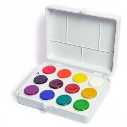 Acuarele COLIBRI,  12 culori