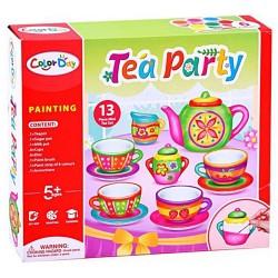 Set de Ceai din ceramica pentru pictat, 9 piese