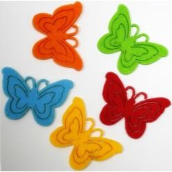 Figurine fluturi din fetru 5 bucati/set