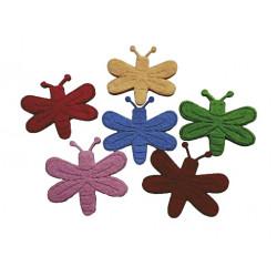 Figurine albinute din fetru, diverse culori, 5 bucati/set
