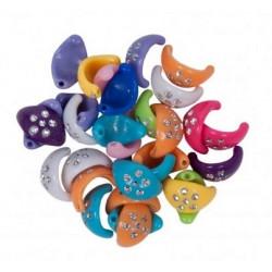 Accesorii creatie plastic cercelusi 15mm diverse culori