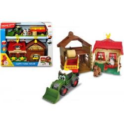 Set Ferma cu tractor si remorca, Dickie Toys
