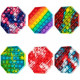 Jucarie Senzoriala Antistres Pop It Now Push Bubble Octogon multicolor