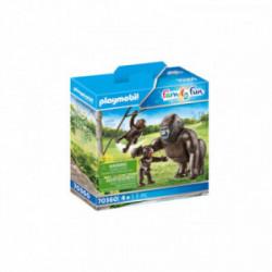 Gorila cu pui Playmobil PM70360