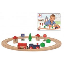 Eichhorn trenulet din lemn cu cale ferata