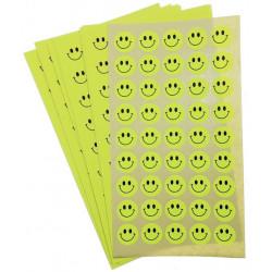 Set 10 folii cu Stickere Smiley diverse culori