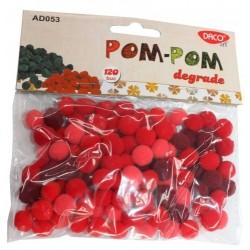 Pom Pom degrade rosu Daco Art AD053